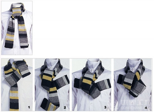 How to tie a fashion men's scarf-Suggestions from Xiuhe OEM scarf factory