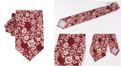 The production process of a printed necktie