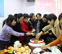 The memorable birthday party of Xiuhe custom tie factory